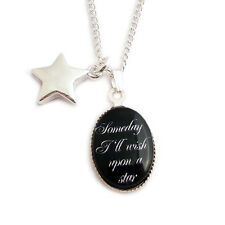 Wish upon a star WIZARD OF OZ necklace No place like home Dorothy charm rainbow
