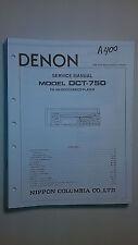 Denon dct-750 service manual original repair book stereo car tuner cd player