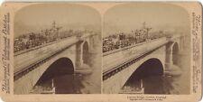 London Bridge Londres UK Photo Stereo Stereoview Papier Citrate Vintage