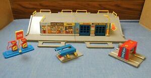 Vtg 1989 MATCHBOX FOLD N' GO AUTO SERVICE GARAGE CAR WASH LIFT MC830 RARE HTF