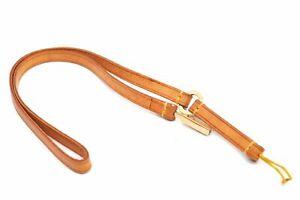 Auth Louis Vuitton Leather Bandolier Telephone Japon Strap Beige M63058 LV A2995