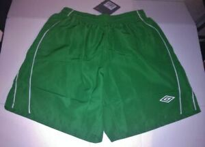 UMBRO Palace Kelly Green White Piping Soccer Shorts Practice Game NEW Boys XL 20