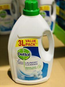 Dettol Laundry Cleanser Anti Bac Fresh Cotton Liquid Cleaner Choose 3L,6L,12L