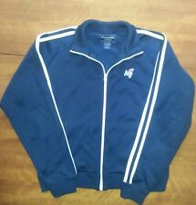 Abercrombie & Fitch Zip-up Track Jacket Blue Sz L Fleece-Lined EUC