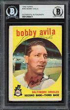 Bobby Avila Autographed Signed 1959 Topps Card #363 Orioles Beckett 12486471