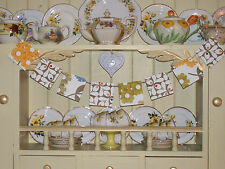 WOODEN BUNTING MADE USING ORLA KIELY DESIGN VINTAGE RETRO DRESSER RETRO GARLAND
