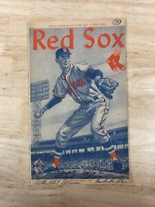 Red Sox Official Program and Scorecard Fenway Park 1960