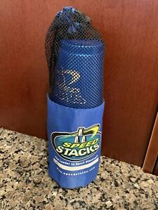 Speed Stacks ~ 12 Sport Stacking Cups W/Carry Case ~ Blue ~ Free Shipping!!