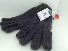 Women's Marini Silvano Brand DARK GRAY Imported Italian WOOL Gloves - $49 MSRP