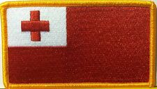TONGA Flag Patch  With VELCRO® Brand Fastener Military Emblem #25
