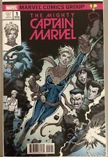 The Mighty Captain Marvel #1 Brain Trust Blue Color Variant