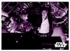 Star Wars ESB Black & White Purple Parallel card, #38 Escape The Asteroids /25