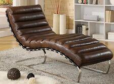 Chaise Echtleder Vintage Leder Relaxliege Design Recamiere Chaiselongue  NEU 436