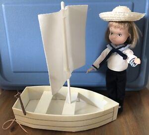 "Vintage Sailboat Madame Alexander 8"" Eloise Doll Sailboat Sail Hat EXCELLENT"