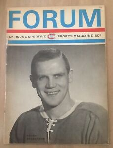 1966 NHL STANLEY CUP FINALS PROGRAM DETROIT RED WINGS @ MONTREAL CANADIENS