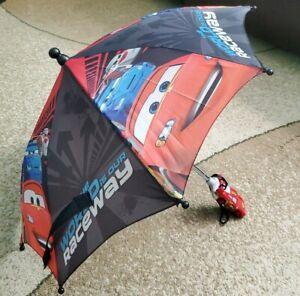 Disney Pixar McQueen Cars Baby Boy Girl Umbrella Red/Black Small 23in Dia