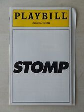 June 1994 - Orpheum Theatre Playbill - Stomp - Michael Bove