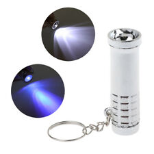 2 In 1 Mini LED Keychain White LED Torch Light and UV Purple Flashlight Keyring