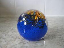 Paperweight Blue Hand Blown Art Glass