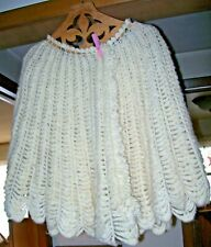 Antique 1800's Hand Spun Wool Hand Made Bed Jacket Shawl Capelet