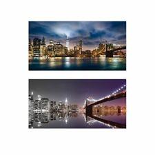 ARTland Wandbild Alu gebogen 80x40 cm 3D Optik Panorama Städte New York Skyline