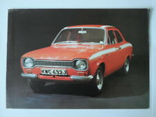 FORD ESCORT MEXICO MK1 orig c1970 Sales Leaflet Brochure Depliant in French