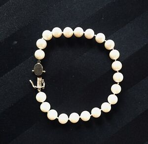 LOVELY MATCHED PEARL BRACELET W/ 14KG Clasp
