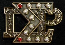 Sigma Gamma Rho Heirloom Letters Pin with 10 Pearls and 2 Rubies