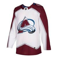 Colorado Avalanche NHL Adidas Men's White Away Authentic On-Ice Pro Jersey