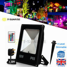 50W Floodlight RGB IP65 Outdoor Garden Wall Security LED Flood Light With Remote
