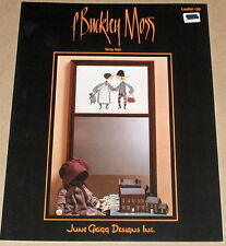 "P Buckley Moss ""Tarry Not"" Boy & Girl / Doll & Fruit Basket Cross Stitch Pattern"