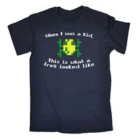 When I Was A Kid Frog MENS T-SHIRT tee birthday geek nerd video gamer arcade