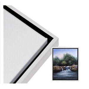 """16""""x20"""" BLACK/WHITE Illusions Floater Frame for 3/4"""" Depth Stretched Canvas"""