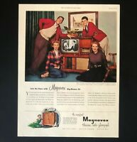 1951 Magnavox Television Advertisement TV Dean Martin Jerry Lewis Vtg Print AD