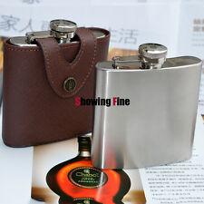 6OZ 8/18 Stainless Steel Hip Flask Outdoor Bottle Drink Flasks alcohol Whisky