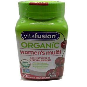 VitaFusion Organic Womens Multi Wild Cherry Supplement 90 Vegetarian Gummies