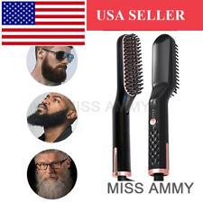 Pro Electric 3 in1 Multifunctional Hair Beard Straightener Curler  Brush Combs