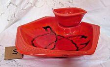 California Original Pottery Chip & Dip Dish
