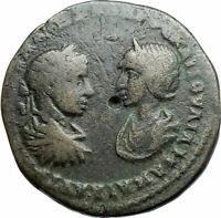 SEVERUS ALEXANDER & JULIA MAMAEA Marcianopolis Ancient Roman Coin ZEUS i79158