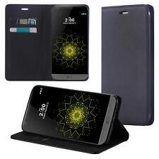 LG Q6 Coque de Protection Carte Portefeuille Housse Etui Cover Case Noir