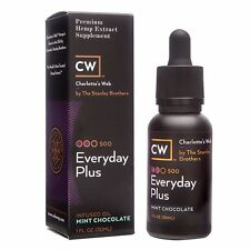 Charlotte's Web CW Everyday Plus Hemp Extract Oil 500 mg Chocolate Mint MCT 1oz
