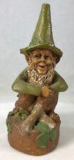 "Signed Tom Clark Gnome Michael #195 Cairn Studio 6.25"" St. Patrick's Day"