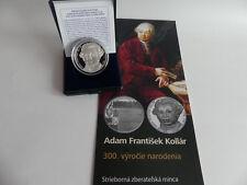 SLOWAKEI 2018 10 EURO SILBER MÜNZE COIN PP PROOF - ADAM FRANTISEK KOLAR -