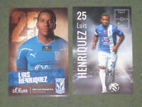 2x PANAMA Luis Henriquez (Lech Poznan) Copa America CONCACAF OHNE UNTERSCHRIFTEN