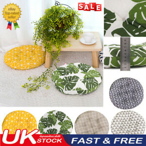 UK Nordic Cotton Round Cushions Dining Seat Chair Thick Pads Garden Floor Pillow