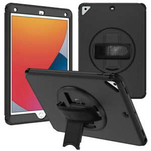 """For iPad 10.2"""" 2020 8th/7th Generation Case, Kickstand Armor Cover with Strap"""