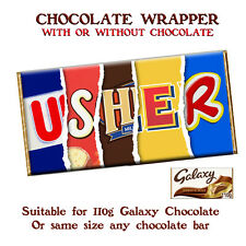 Usher Chocolate Bar Wrapper Novelty Gift Present For Wedding Birthday Christmas