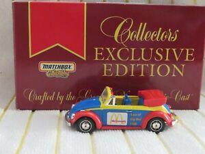 """Matchbox 1/43 DYM92013 """"1968 VW Convert-/Red/Blue/Yellow/Silver Ronald McDonald"""""""