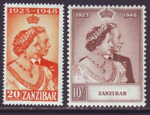 Zanzibar 1948 SC 224-225 MH Set Silver Wedding