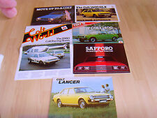Car brochures 1979 4 Colt brochures from 1979 Lancer 1400 Sappro Colt World raci